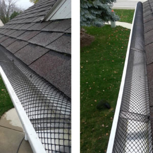 Photo of gutter toppers protecting from leaves